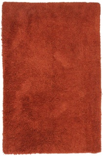Hochflor Teppich - 215 x 155 cm - rost