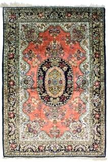 Seidenteppich - Kayseri - 155 x 110 cm - rost