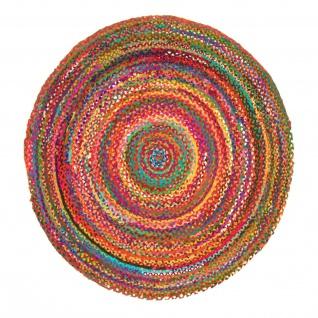 Sisal Wendeteppich Baumwolle Streifen Designer Weich Rund Naturfaser Fusselfrei