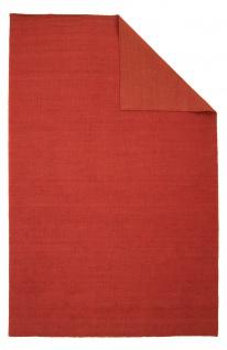 Teppich Morgenland Kelim Kurzflor Beidseitig Wolle Einfarbig Uni Wohnzimmer Soft