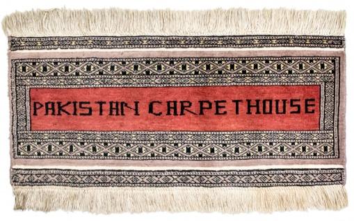 Pakistan Teppich - 68 x 30 cm - rot