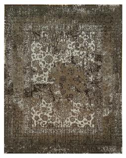 Vintage Teppich Viskose Abstrakt Kurzflor Boho Modern Fusselfrei Handgearbeitet
