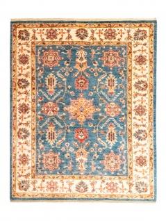Ziegler Teppich - 199 x 162 cm - blau