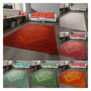 Vintage Teppich Schurwolle Medaillon In- & Outdoor Designer Boho Handgearbeitet