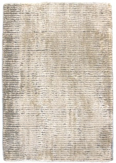 Viskose Teppich - 95 x 65 cm - beige