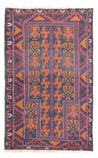 Belutsch Teppich - 133 x 83 cm - blau