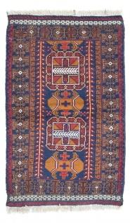 Belutsch Teppich - 134 x 80 cm - blau