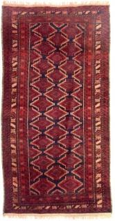 Belutsch Teppich - 197 x 100 cm - rot