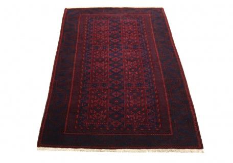 Afghan Teppich - 155 x 100 cm - rot