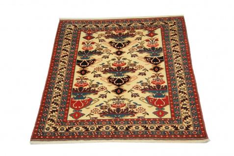 Afghan Teppich - 135 x 114 cm - beige