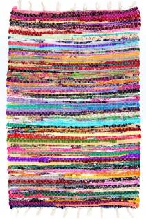 Kelim Wendeteppich Recycelte Baumwolle Streifen Designer Allergikerfreundlich