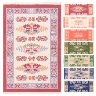 Kelim Wendeteppich Baumwolle Minimal Designer Weich Fusselfrei Modern Orient