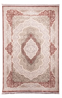 Orientalischer Webteppich Acryl Medaillon Designer Flauschig Weich Fusselfrei