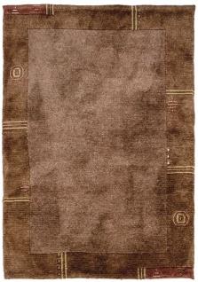 Teppich Morgenland Gabbeh Nepal Berber Wolle Bordüre Handgeknüpft Wohnzimmer