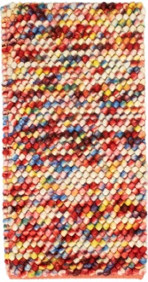 Filzkugelteppich - 61 x 31 cm - bunt