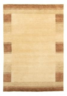 Gabbeh Teppich Schurwolle Bordüre Meliert Modern Orient Designer Handgearbeitet