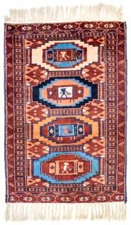 Afghan Teppich - 69 x 46 cm - rost