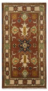 Orientteppich - 123 x 64 cm - rost