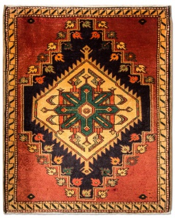 Perserteppich - Nomadic - 98 x 80 cm - rost
