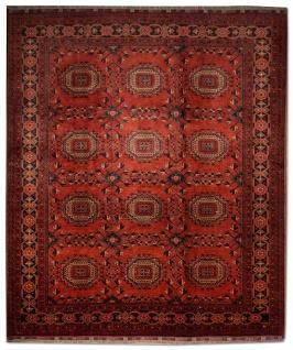 Afghan Teppich - Kunduz - 275 x 216 cm - rot