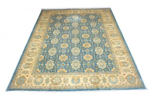 Ziegler Teppich - 366 x 266 cm - blau