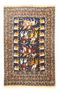 Afghan Teppich - 195 x 128 cm - blau