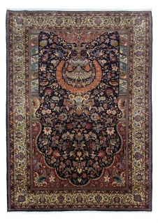Perserteppich - Keshan - 292 x 205 cm - dunkelblau