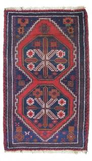Belutsch Teppich - 142 x 85 cm - blau