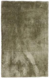 Hochflor Teppich - 188 x 120 cm - minzgrün