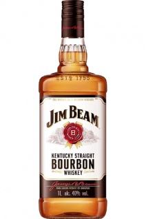 Jim Beam Bourbon Whiskey 1.0 L
