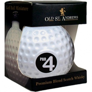 Old St. Andrews Par 4 Golf Ball 0.05 L Blended Scotch Whisky
