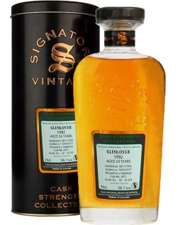 Glenlossie 24 Jahre 1992 Signatory Whisky 0.7 L Cask Strength Collection Cask 3457