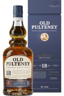 Old Pulteney 18 Jahre Whisky Born in the Port of Wick 0.7 L