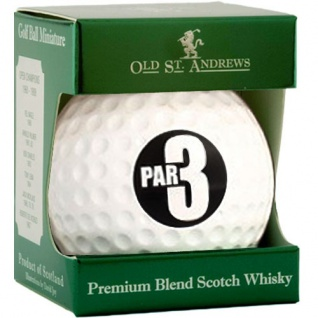 Old St. Andrews Par 3 Golf Ball 0.05 L Blended Scotch Whisky