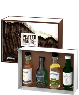 Peated Malts of Distinction Whiskey Set 4x 0.05 L Ardmore. Bowmore. Connemara. Laproaig