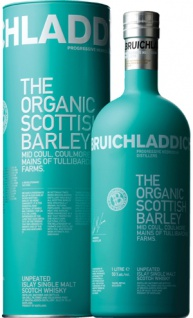 Bruichladdich The Organic Scottish Barley Whisky 1.0 L (kein Bio) Mid Coul. Coulmore. Mains of Tullibardine Farms
