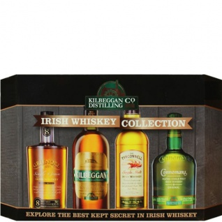Kilbeggan Distilling Irish Whiskey Collection 4x 0.05 L Miniaturen Set