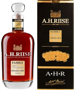A H Riise Family Reserve Solera 1838 Rum 0.7 L