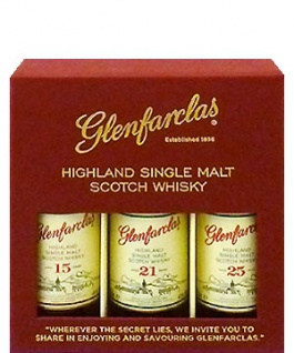 "Glenfarclas Probierpack 15. 21 und 25 Jahre "" Wherever the Secret lies"" 3x 0.05 L"