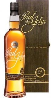 Paul John Single Cask Unpeated Cask 1615 Whisky 0.7 L Selected exclusively for Germany