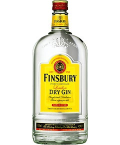 Finsbury London Dry Gin 37.5% vol 1.0 L