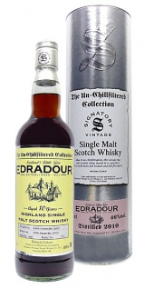 Edradour 2010 10 Jahre. Sherry Cask 400 The Un-Chillfiltered Collection. Signatory 0.7 L