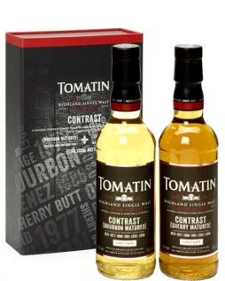 Tomatin Contrast Whisky-Set 2x 0.35 L Bourbon- & Sherry Matured
