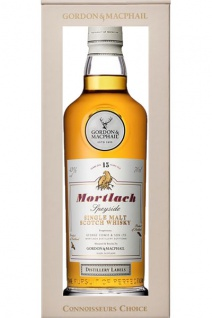 Mortlach 15 Jahre Gordon & MacPhail Whisky 0.7 L Distillery Labels. neue Design
