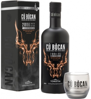 Cu Bocan 2006 Vintage Whisky by Tomatin 0.7 L Limited Edition mit Glas