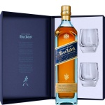 Johnnie Walker Blue Label Whisky Limited Edition Design 0.7 L Geschenkpackung mit zwei Kristall Tumblern