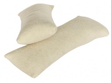Nackenkissen Wollplüsch mit Reißverschluss