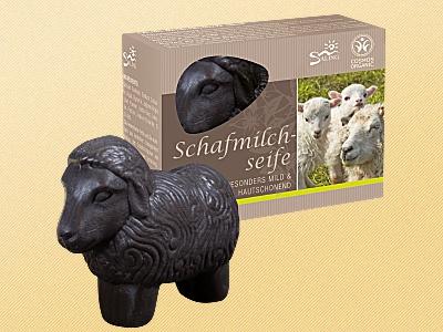 """Schafsmilchseife Schaf schwarz """" zertifiziert"""""""