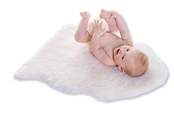 Baby-Lammfell weiß geschoren 70-80cm