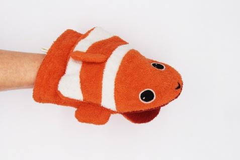 BIO Waschlappen für Erwachsenenhände, Clownfisch Conny